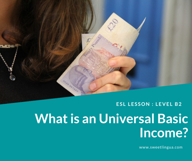 esl lesson what is universal basic income