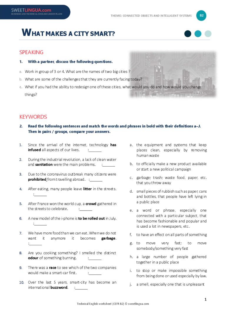 esl smart city lesson plan example